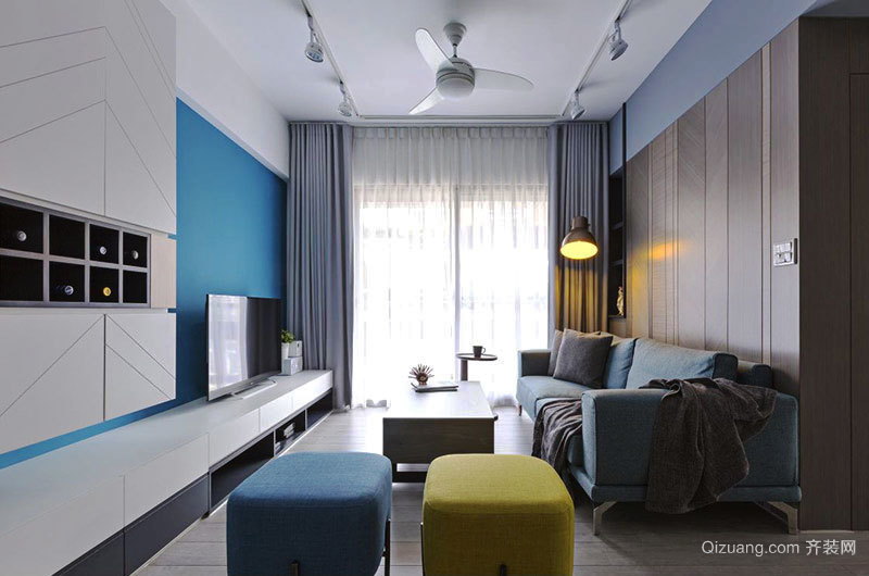 60平米北欧风格自然清新室内室内装修效果图案例