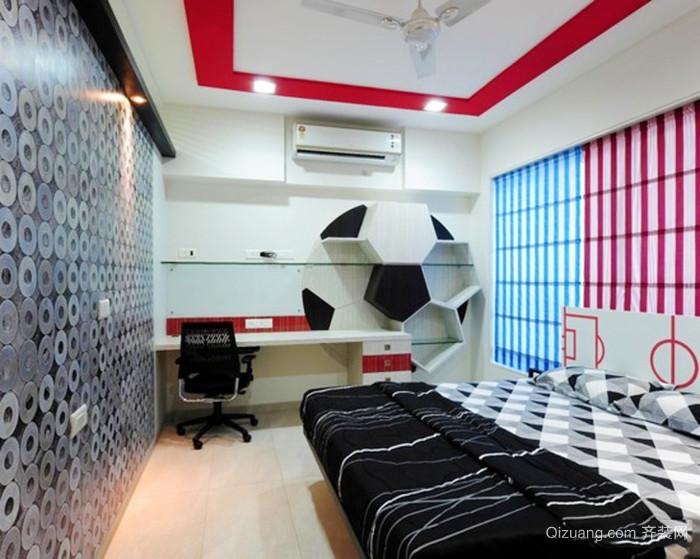 现代风格足球主题儿童房设计装修效果图大全