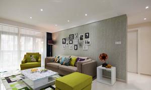 现代简约风格温馨客厅背景墙装修效果图赏析