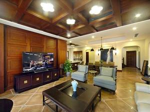 280平米美式风格别墅室内装修效果图赏析