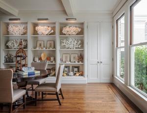 欧式风格别墅室内书房博古架装修效果图赏析