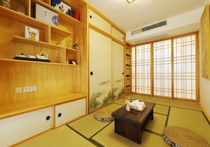 日式风格三居室榻榻米卧室装修效果图赏析