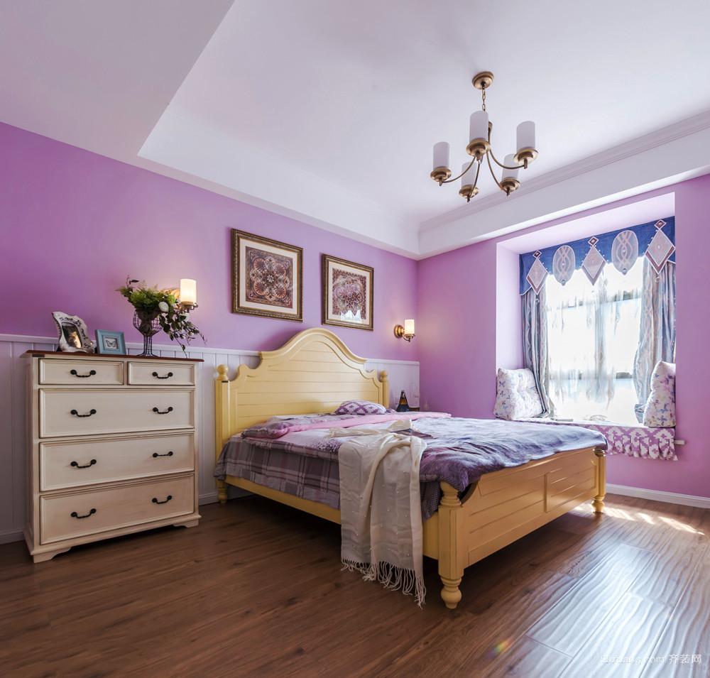 简欧风格温馨舒适卧室飘窗设计装修效果图赏析