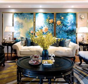 130平米新古典主义风格两室两厅室内装修效果图赏析