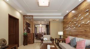 90平米中式风格古朴自然室内装修效果图赏析