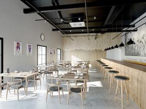 70平米后现代风格简约餐厅装修效果图赏析