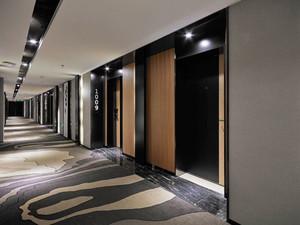 300平米现代风格酒店过道设计装修效果图赏析