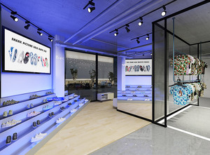 70平米现代简约风格鞋店装修效果图赏析