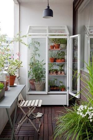 北欧风格自然清新阳台花园设计装修效果图