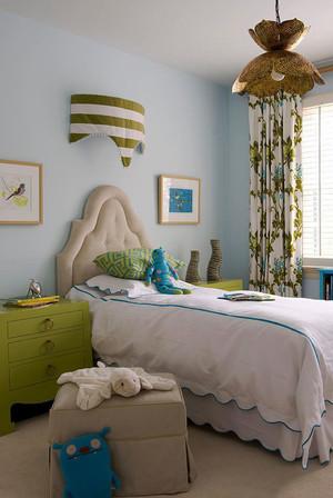 清新美式风格温馨儿童房设计装修效果图赏析