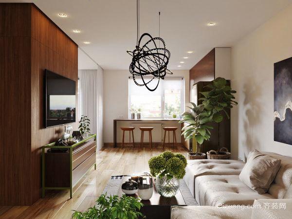 66平米后现代风格公寓装修效果图赏析