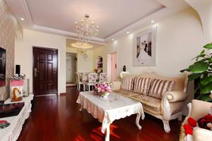 89平米欧式风格精致婚房设计装修效果图