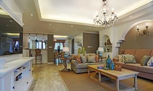 134平米简约美式风格三室两厅室内装修效果图赏析