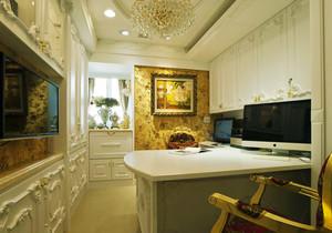 欧式风格奢华精致书房设计装修效果图