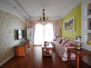 141平米欧式田园风格两室两厅室内装修效果图