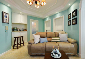 68平米清新美式风格小户型室内装修案例