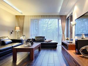 120平米新中式风格三室两厅室内装修效果图赏析
