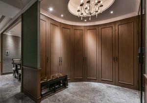 美式风格别墅室内冷色调开放式衣帽间装修效果图