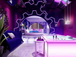 54平米简欧风格浪漫情人主题酒店客房装修效果图