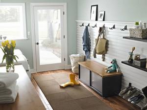 北欧风格文艺时尚玄关鞋柜设计装修效果图