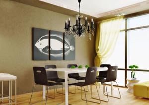 后现代风格精致餐厅背景墙装修效果图