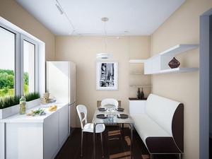 现代简约风格厨房餐厅一体装修效果图赏析
