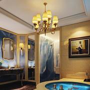 地中海风格别墅室内奢华卫生间设计装修效果图