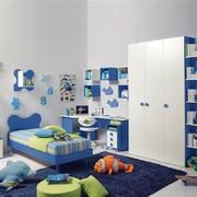 现代简约风格浅蓝色儿童房设计装修效果图