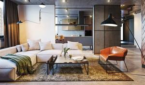 130平米现代工业风格loft装修效果图赏析