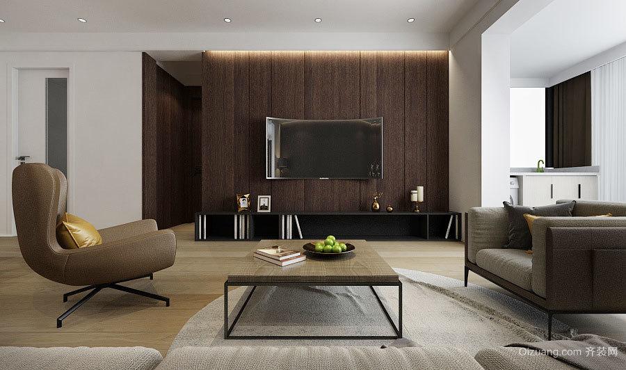 100平米后现代风格冷色调室内装修效果图赏析