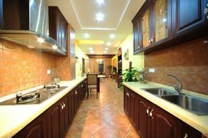 102平米美式田园风格两室两厅一卫装修效果图赏析