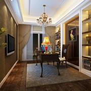 欧式风格别墅室内精致书房装修效果图