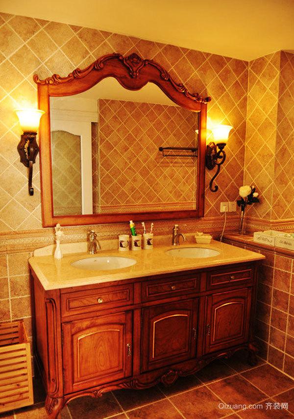 古典欧式风格卫生间浴室柜装修效果图赏析