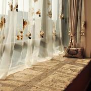 现代简约风格温馨飘窗窗帘装修效果图