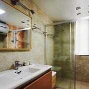 美式风格大户型室内卫生间淋浴房装修效果图