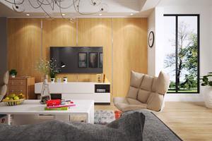 63平米都市简约风格一居室小户型室内装修效果图
