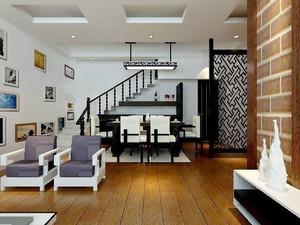 136平米古朴典雅中式风格复式楼装修效果图赏析