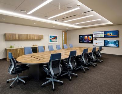 56平米现代风格多功能会议室装修效果图赏析