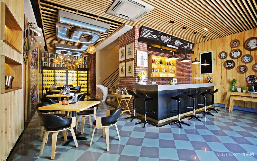 复古风格怀旧主题酒吧设计装修效果图
