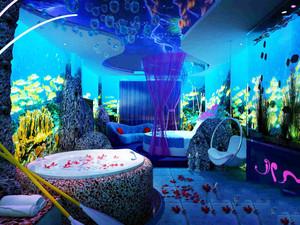现代风格海洋主题酒店客房设计装修效果图