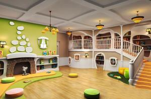 简欧风格清新活泼幼儿园环境布置设计装修效果图