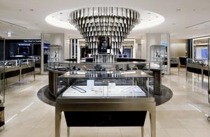 140平米后现代风格珠宝店展柜设计装修效果图