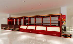 30平米现代风格烟酒店展柜设计装修效果图