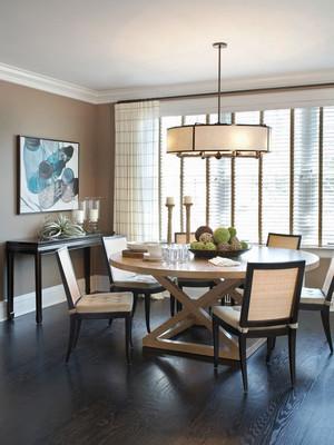 后现代风格大户型室内餐厅吊灯设计效果图