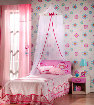 简欧风格甜美粉色儿童房装修效果图