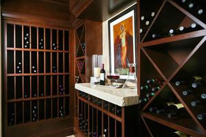 新中式风格别墅室内酒柜设计装修效果图赏析