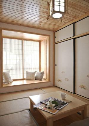 日式风格简约榻榻米卧室装修效果图