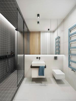 现代风格时尚大气卫生间隔断设计装修效果图
