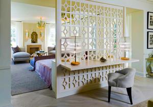 简欧风格别墅室内精美卧室隔断设计装修效果图