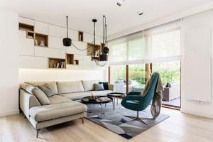 76平米现代简约风格时尚大气公寓装修效果图赏析